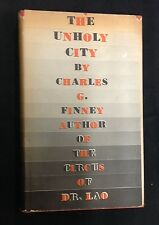 """1937 """"The Unholy City"""" Charles Finney !st Ed. DJ H/C fantasy Circus Dr. Lao"""