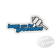 Las bolsas son comestibles de Pared Dormitorio Coche Furgoneta Ventana Calcomanía Adhesivo