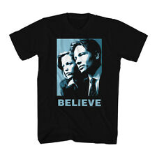 The X Files Science Fiction Tv Show Mulder & Scully Believe Adult T Shirt