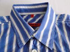 Signum Classic Fit Herren Hemd Kurzarm  Blau Weiß Gestreift Gr. M