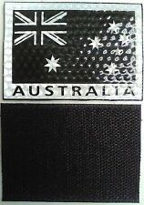 ADF REFLECTIVE MILITARY AUSTRALIAN FLAG PATCH PULL ON / OFF OR SEW