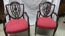 Pair Shield Captains Dining Room Chairs Mahogany