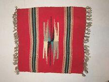 Antique Southwestern Red Woven Rug Blanket Salesman Sample Fringed