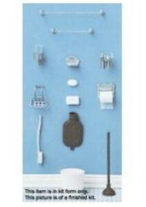 Doll House Accessories 1:12th Miniature - 18 piece Bathroom Set