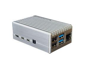 Raspberry Pi 4 passiv Aluminium Metall Gehäuse Case kein Lüfter Maker Case