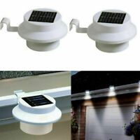 Solar Power LED Gutter Spot Light Outdoor Garden Fence Shed Wall Roof Lamp F
