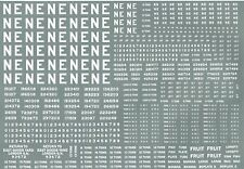 More details for modelmaster ne301 l.n.e.r wagon lettering & number decals / transfers