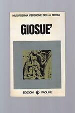 nuovissima edizione della bibbia - giosue'  - edizioni paoline