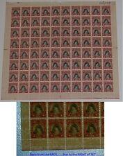 COOK ISLANDS 1944 CAPTAIN COOK Full Sheet SG138w cv £640.. INVERTED SIDEWAYS..L1