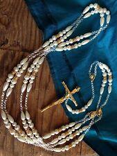 PEARLS WEDDING LASSO GOLD ACCENTS/ LAZO DE BODAS EN PERLAS COLOR BLANCO Con ORO