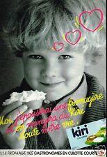 Publicité advertising 1985 Le Fromage Kiri à la Crème