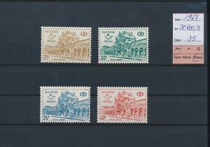 LN72812 Belgium 1967 train station railway stamps fine lot MNH cv 35 EUR