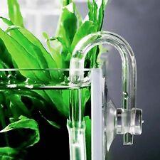 1 Set Aquarium CO2 Diffuser Check Valve U Shape Glass Tube Suction Cup Tube