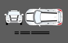 Suzuki Swift 2010-17 Roof & Bonnet Twin Style Stripe Decal Graphic Sticker Set