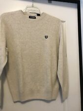 Chaps Men's Sz Small Oatmeal Long Sleeve 100% Cotton Crewneck Sweater!