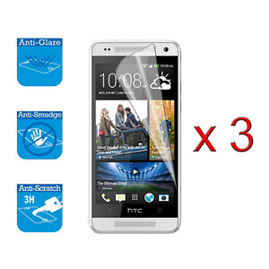For HTC One M7 Screen Protector Cover Guard Film Foil x 3