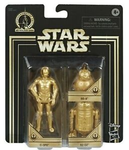 STAR WARS 3 PACK C-3PO BB-8 R2-D2 Gold commemorative Walmart EXCLUSIVE edition