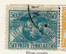 Lithuania 1918 Early Issue Fine Used 50sk. 118904