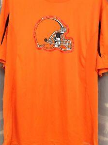 Majestic NFL Team Apparel Cleveland Browns L Orange Rare Cool Base Dri-Fit Tee!!