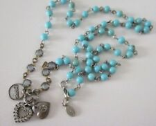 """America Eagle Outfitters """"aeo"""" turquoise blue beads """"PEACE"""" necklace NWT $29.50"""