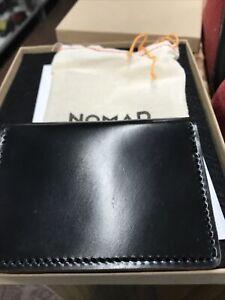 Nomad Slim Wallet Bi-Fold Standard Edition Horween Black Leather Limited Edition