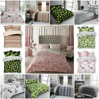 New Luxury Bellerose Duvet Quilt Cover Pink & Grey Reversible Floral Bedding Set