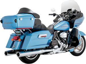 Vance & Hines Hi Output Slip On Chrome Mufflers Harley 95-16 Touring FLHR FLHX