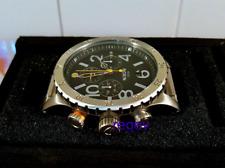 Genuine NEW Nixon Watch 48-20 Chrono Black Silver A486-000 A486000 Men box