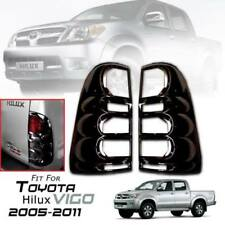 FIT TOYOTA HILUX VIGO SR5 MK6 05-2011 GLOSS BLACK COVER REAR TAIL LIGHT TRIM