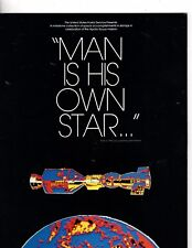 "1975 USPS ""MAN IS HIS OWN STAR"" BOOKLET W/FIRST DAY OF ISSUE CANCEL STAMPS (mb3"