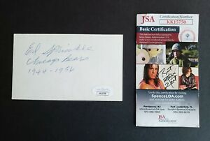 Ed Sprinkle signed Chicago Bears football index card Jsa Authenticated