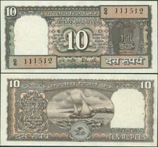 INDIA 10 RUPEES 1985-90 P 60Aa R.N. MALHOTRA SIGN 85 AUNC/UNC W/H