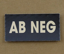 """IR Infrared Reflective Patch for NVG """"Blood Type AB NEG"""" with VELCRO® brand hook"""