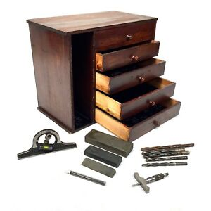 Antique Wooden Tool / Collectors Box / Chest of Drawers / Cabinet / Rustic