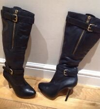 SAN MARINA  ladies Italian Leather Black Boots  size 7 (40)