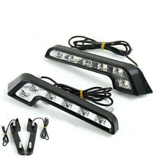 Driving Lamp Fog 12V DRL Daytime Running Light White LED Universal Car Auto 2X u