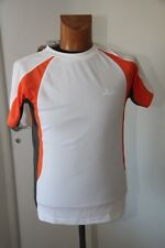 Original  Tee shirt  femme Running ROGELLI Elba blanc orange et gris  S  neuf