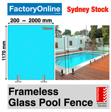 Glass Pool Fence Panels 12mm Frameless Glass Fencing Hinges Latch Spigots Panel
