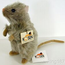 KOSEN Made in Germany NEW Mohair Lite Gray Rat Plush Toy
