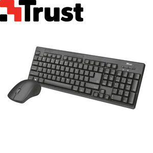 Trust Ziva PC Wireless Tastatur Maus Funk Kabellos Combo Set Deutsches Layout