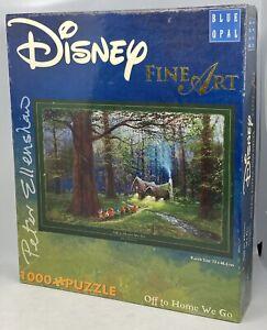 Blue Opal Disney Fine Art Seven Dwarfs Off To Home We Go - Peter Ellenshaw -used
