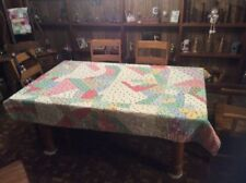 Vintage Knotted And Hand Stitched Quilt...Flour Sack...Cute