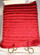 """VTG 12 Yards Silk Pagoda Red, Black Cherry, Ruby, Cranberry 2"""" Brush Fringe Trim"""