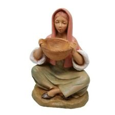 Fontanini Figurine Italy Collectible Woman Sitting Basket Shop 140 Delilah