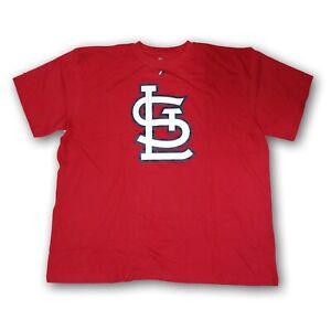 St Louis Cardinals MLB Majestic Men's Red Short Sleeve Tshirt