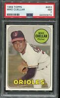 1969 Topps Baseball #453 MIKE CUELLAR Baltimore Orioles PSA 7 NM