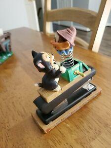 Vintage Disney Pinocchio Desk Catalog Set - Figaro with Jack in the box stapler