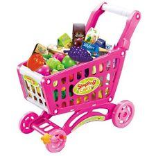 DeaO Niños Niños Carrito de la compra carro cesta carro de fruta de plástico juguete de juego de rol