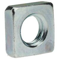 200x DIN 562 Vierkantmuttern. niedrige Form. M 5. 04 Au (Stahl - gedreht) galv.