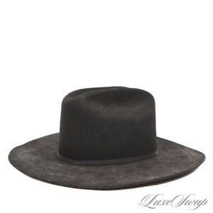 Resistol Made in USA 5X Beaver XXXXX Cattleman Long Oval Black Cowboy Hat 7.5 NR